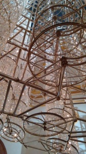 Welded bike chandelier at the Ai Weiwei exhibition at the Royal Academy