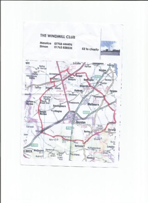 Bike ride map 11.2.16