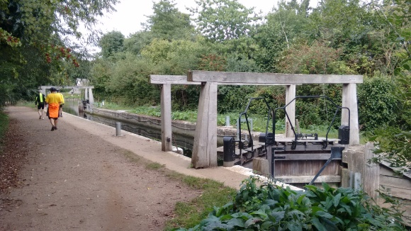 The lock at Flatford complete with height warning device