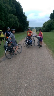 Riding through the Holkham Hall estate was one of the highlights of the ride