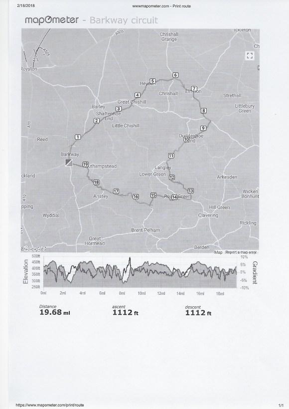 Bike ride 12 Feb
