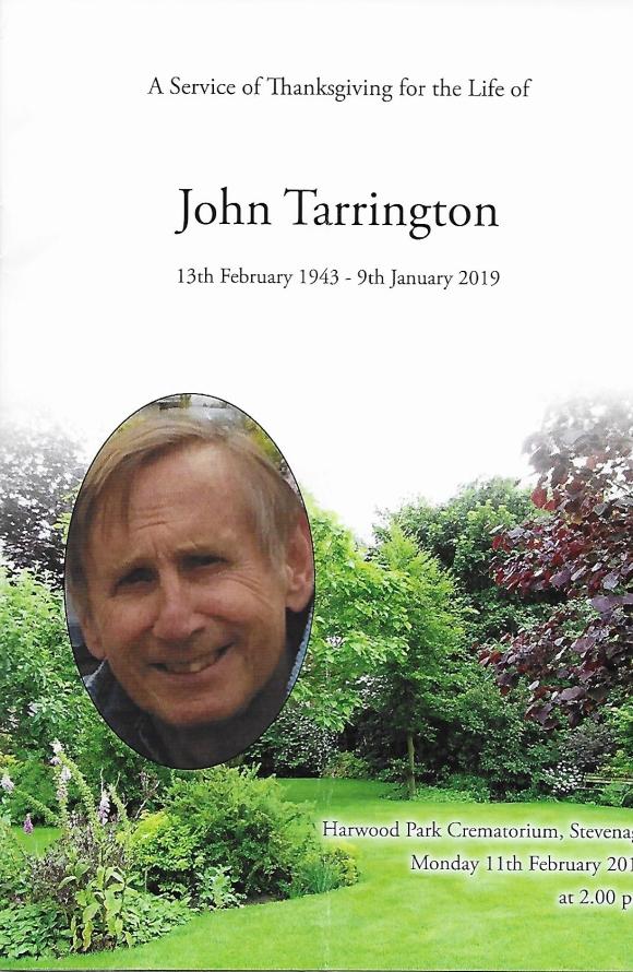 John Tarrington, RIP